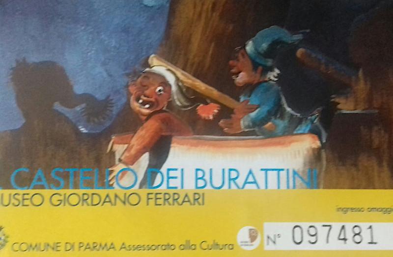 biglietto mostra Castello dei Burattini
