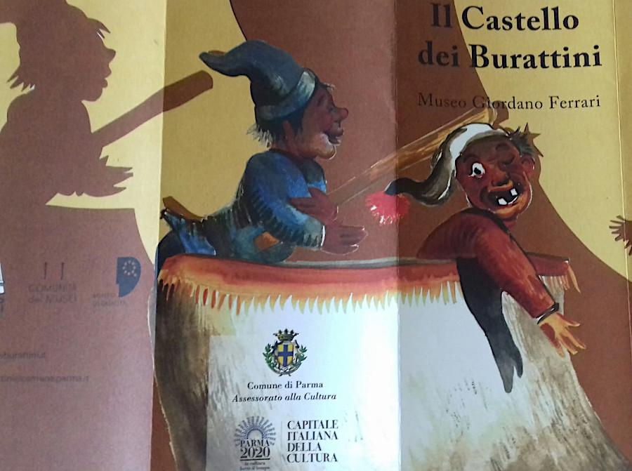 Locandina mostra Castello dei Burattini